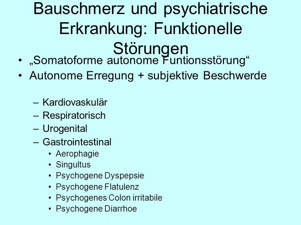 Bauschmerz und psychiatrische Erkrankung: Funktionelle Störungen