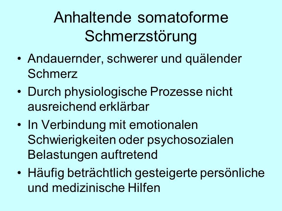 Anhaltende somatoforme Schmerzstörung