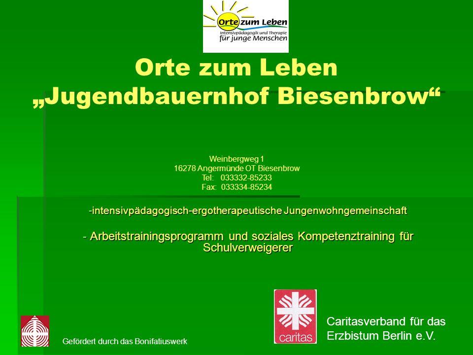"""Orte zum Leben """"Jugendbauernhof Biesenbrow"""