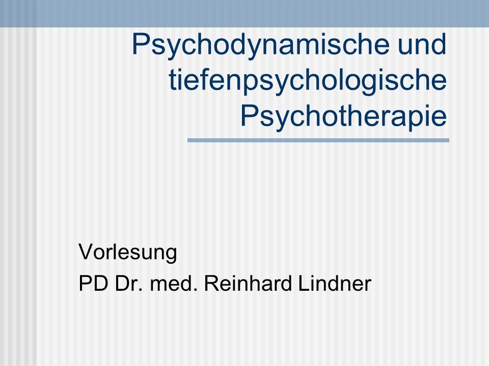 Psychodynamische und tiefenpsychologische Psychotherapie