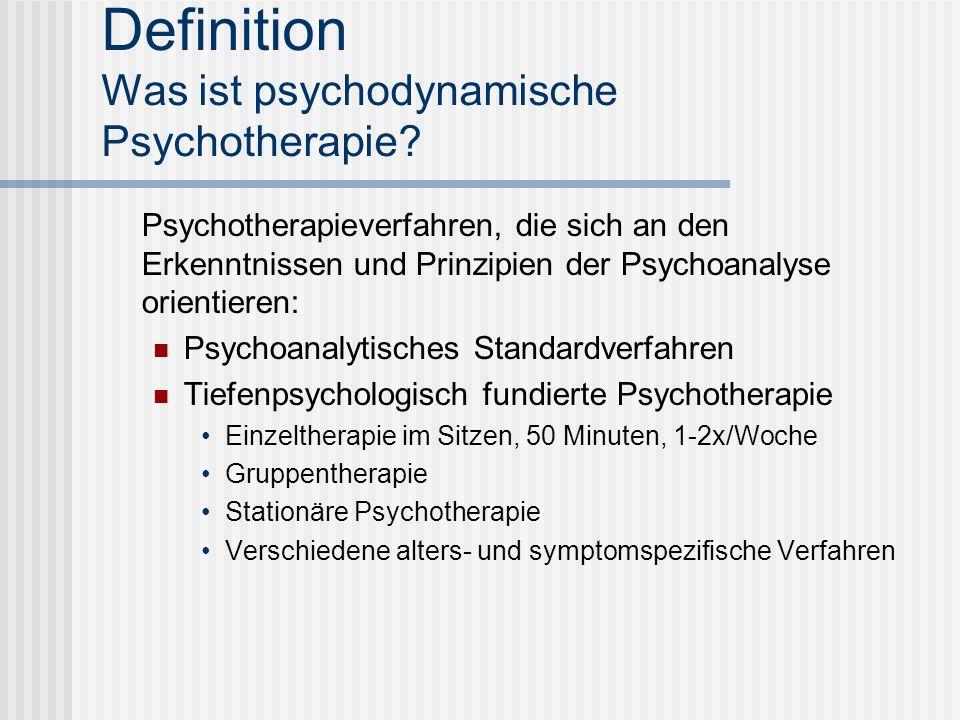 Definition Was ist psychodynamische Psychotherapie