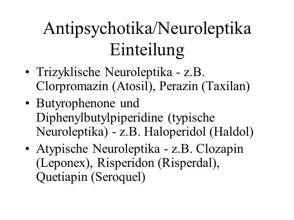 Antipsychotika/Neuroleptika Einteilung