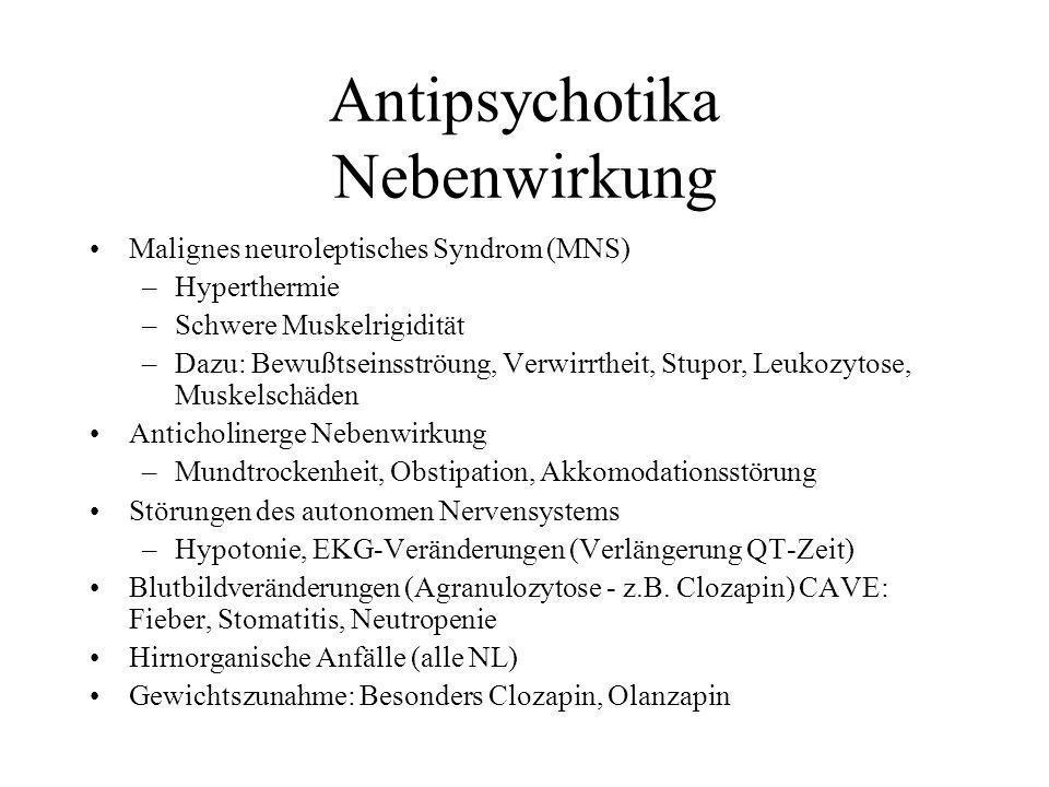 Antipsychotika Nebenwirkung