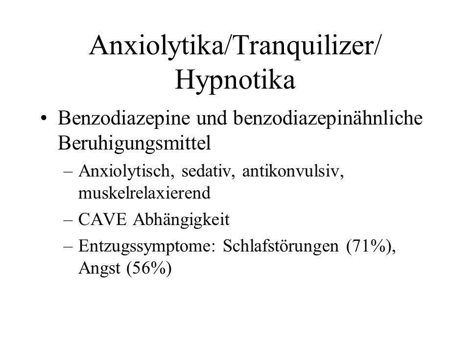 Anxiolytika/Tranquilizer/ Hypnotika