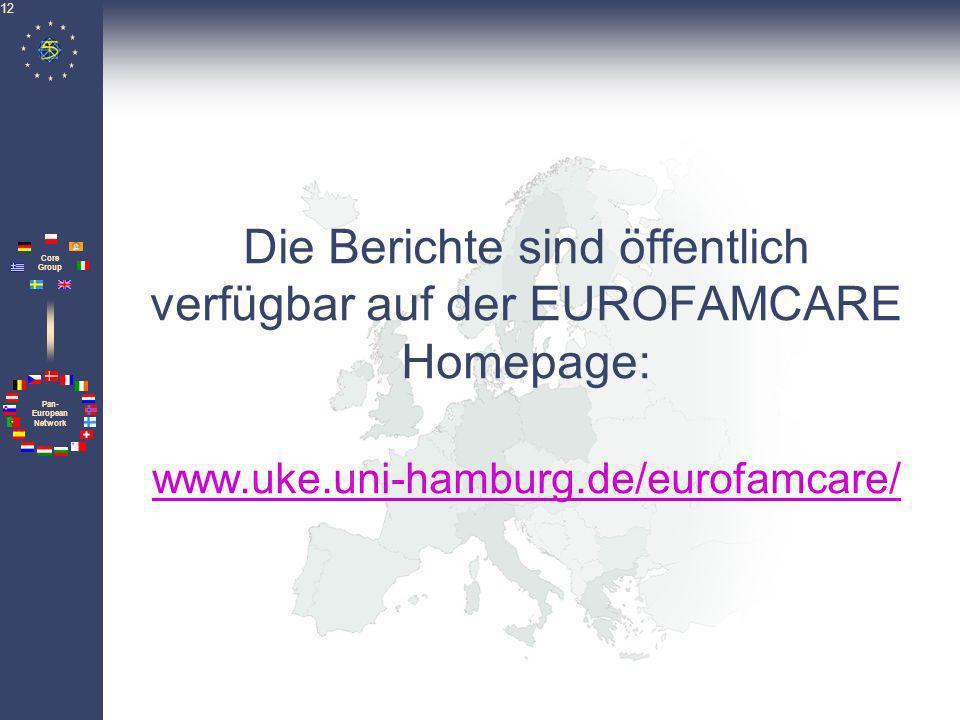 Die Berichte sind öffentlich verfügbar auf der EUROFAMCARE Homepage: www.uke.uni-hamburg.de/eurofamcare/