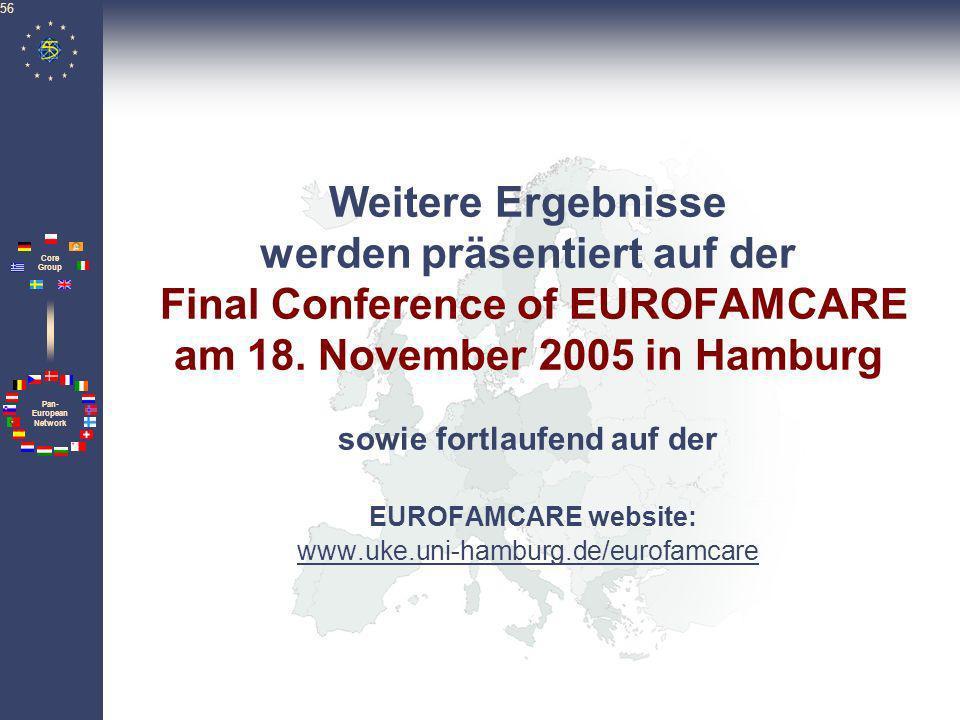 Weitere Ergebnisse werden präsentiert auf der Final Conference of EUROFAMCARE am 18.