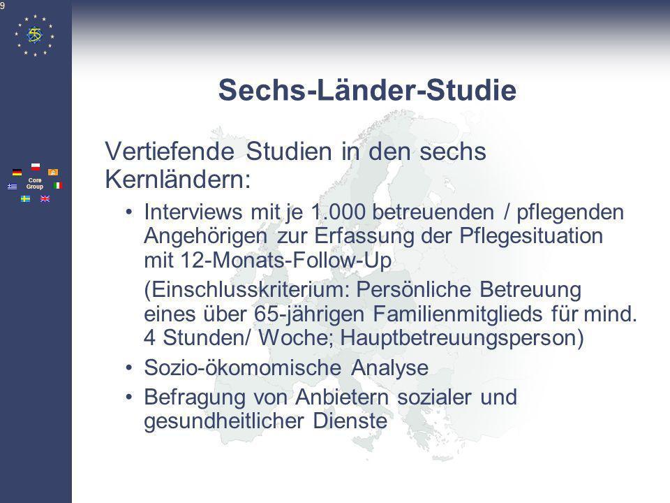 Sechs-Länder-Studie Vertiefende Studien in den sechs Kernländern: