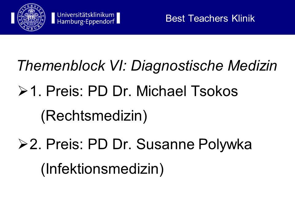 Themenblock VI: Diagnostische Medizin