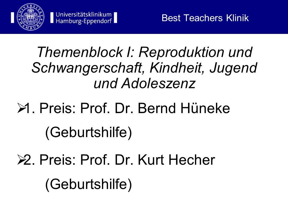 1. Preis: Prof. Dr. Bernd Hüneke (Geburtshilfe)