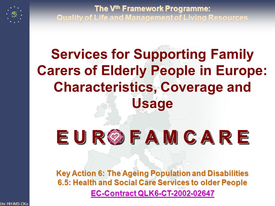 The Vth Framework Programme: