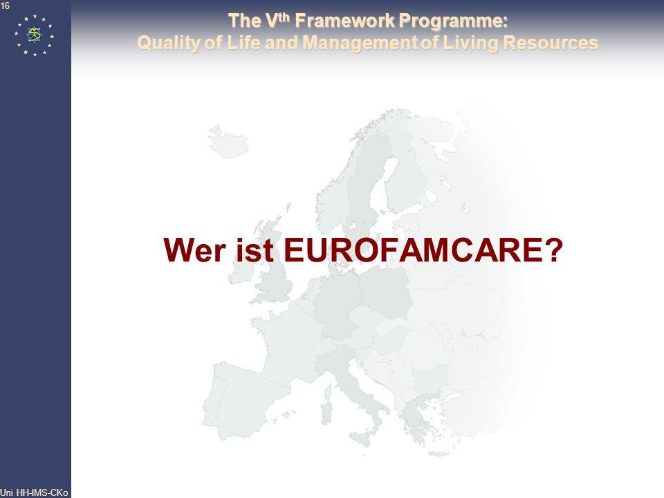 Wer ist EUROFAMCARE The Vth Framework Programme: