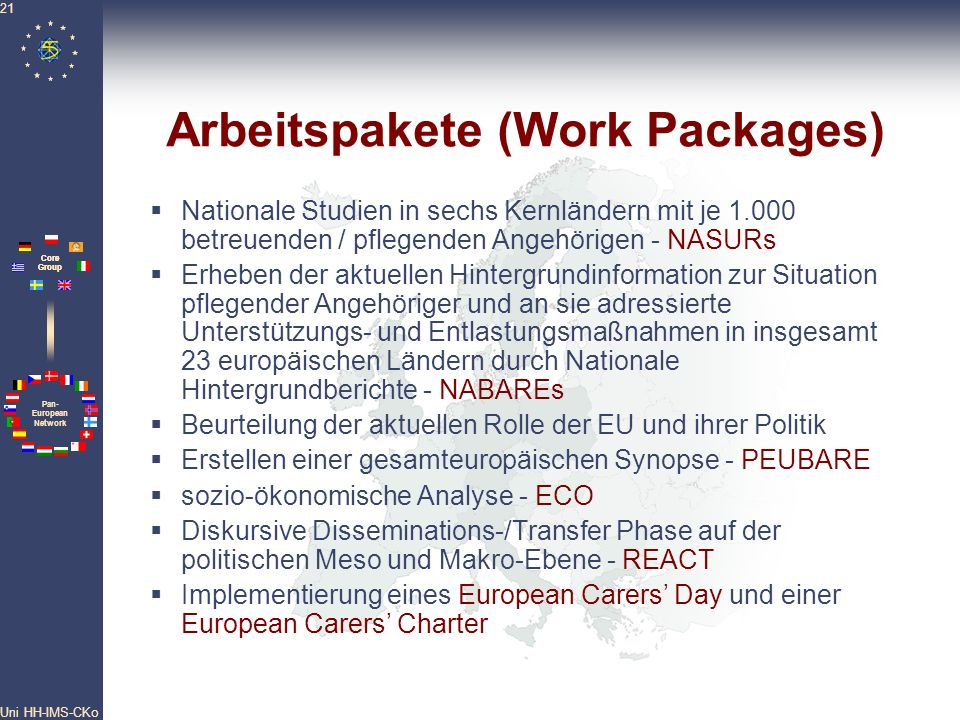 Arbeitspakete (Work Packages)