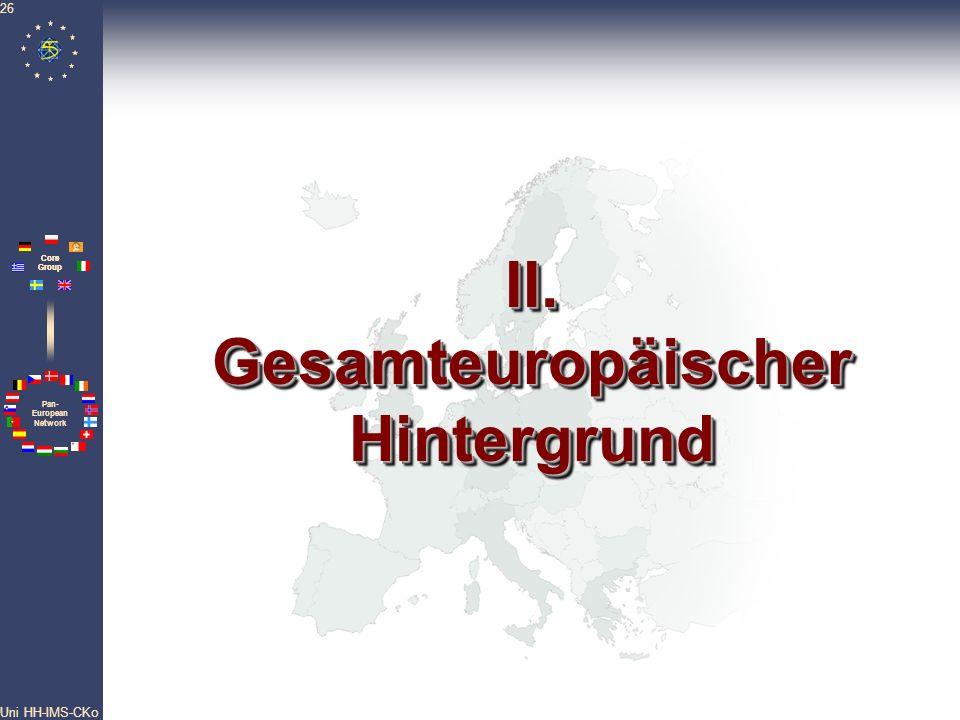 II. Gesamteuropäischer Hintergrund
