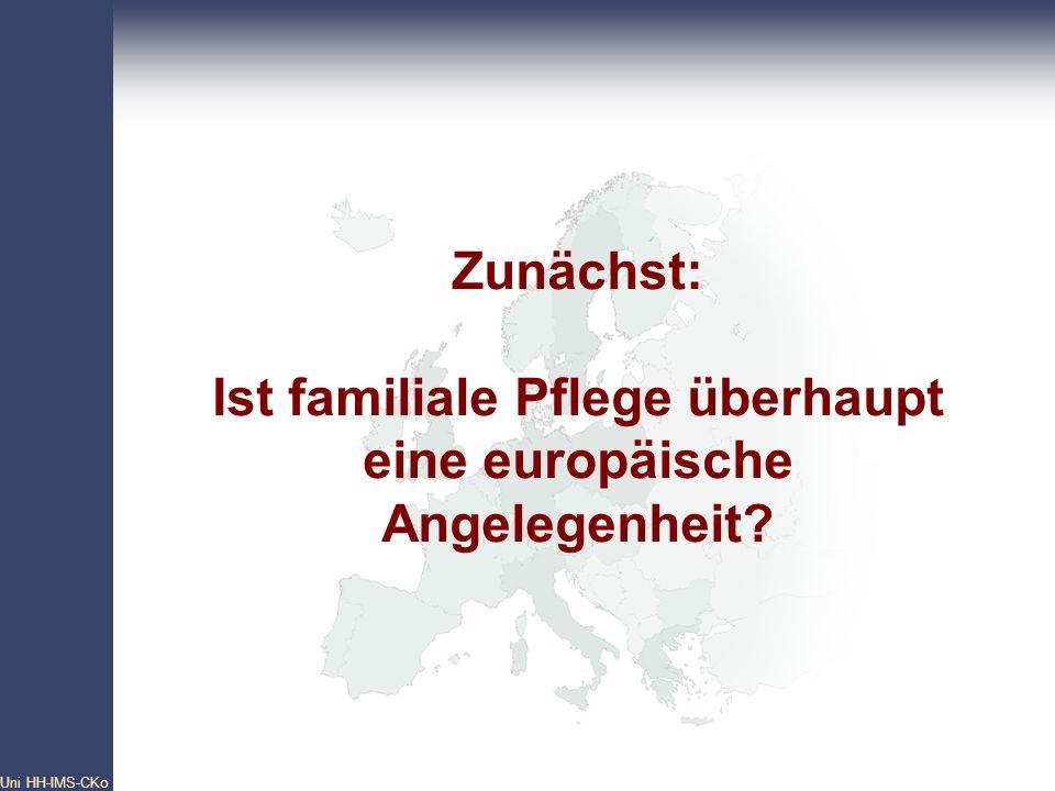 Zunächst: Ist familiale Pflege überhaupt eine europäische Angelegenheit