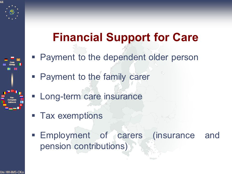 Financial Support for Care