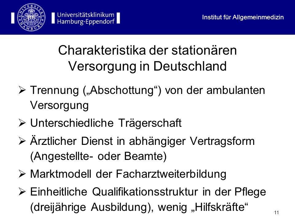 Charakteristika der stationären Versorgung in Deutschland