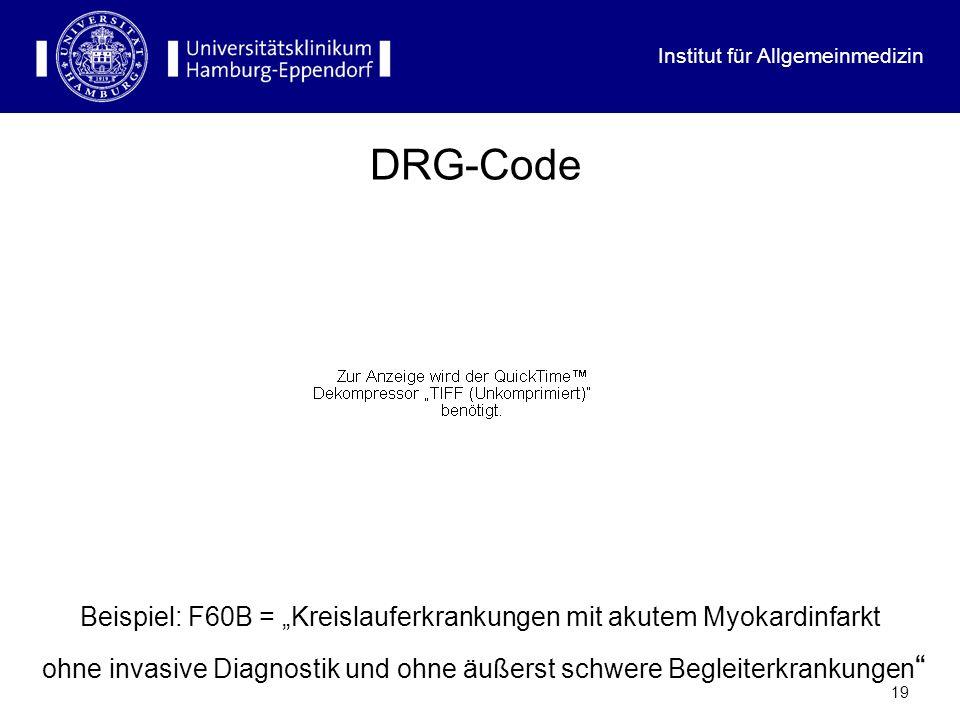 """DRG-Code Beispiel: F60B = """"Kreislauferkrankungen mit akutem Myokardinfarkt."""