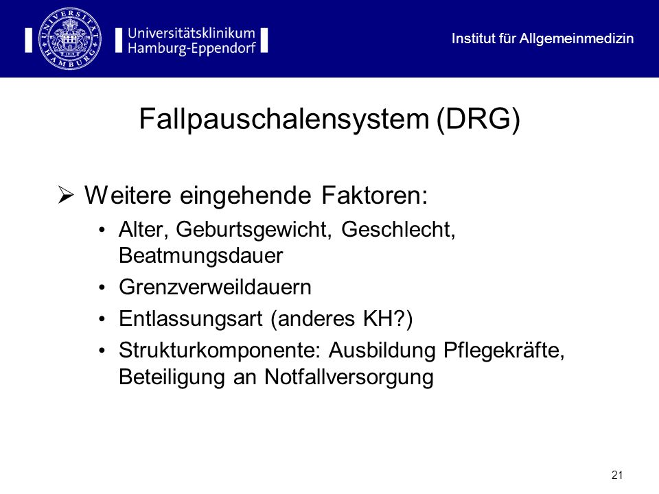 Fallpauschalensystem (DRG)
