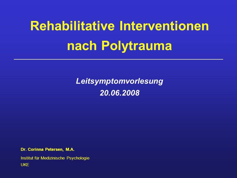 Dr. Corinna Petersen, M.A. Institut für Medizinische Psychologie UKE