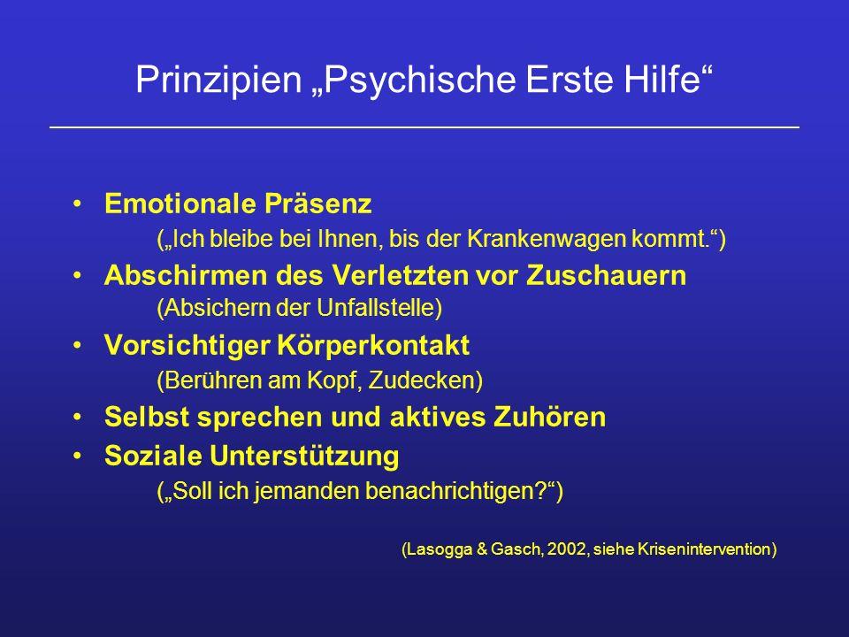 """Prinzipien """"Psychische Erste Hilfe"""