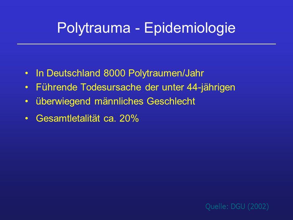 Polytrauma - Epidemiologie