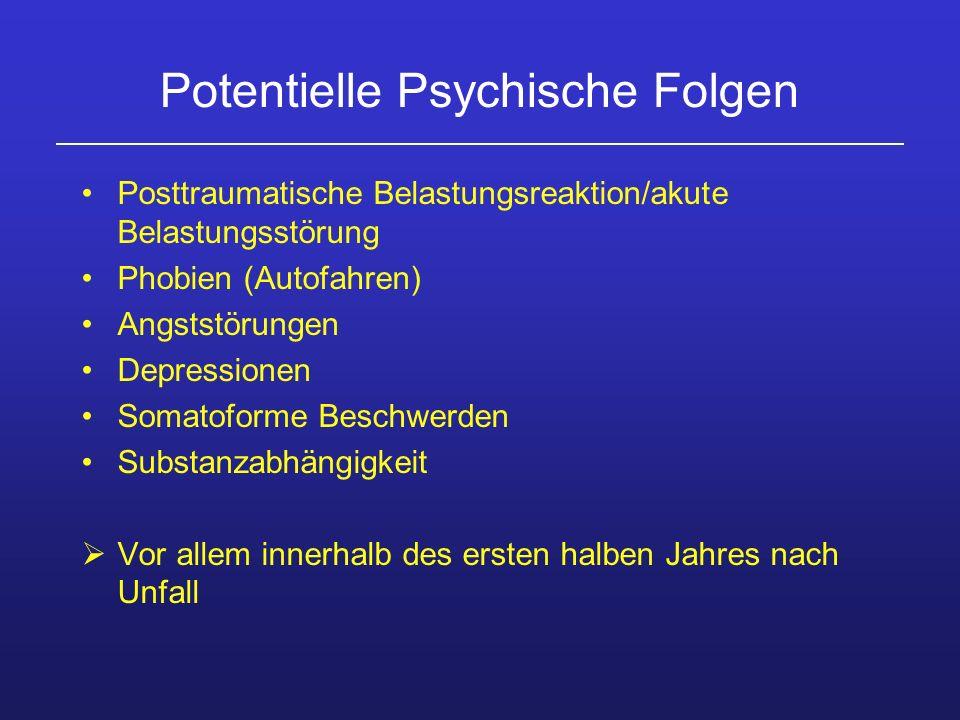 Potentielle Psychische Folgen