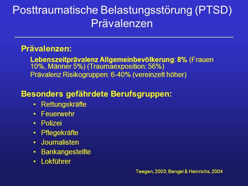 Posttraumatische Belastungsstörung (PTSD) Prävalenzen
