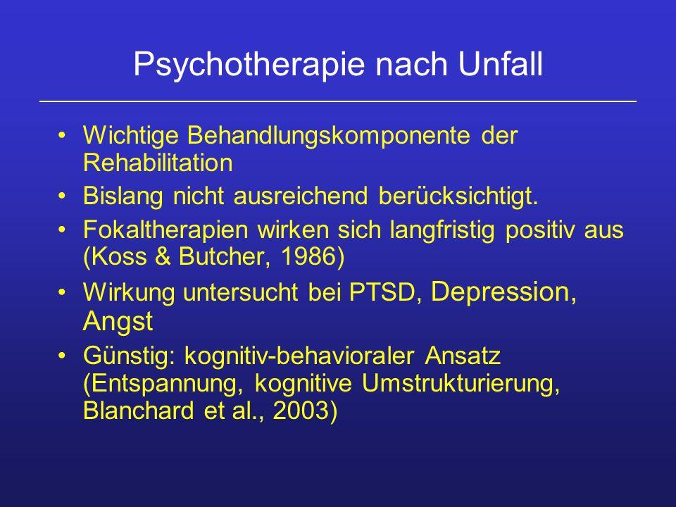 Psychotherapie nach Unfall