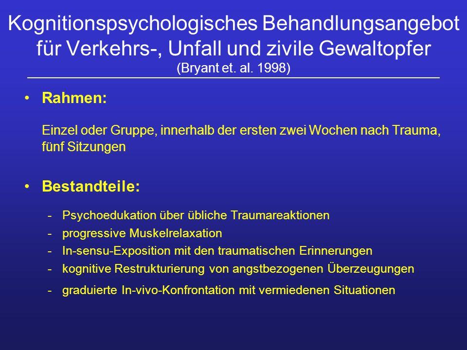 Kognitionspsychologisches Behandlungsangebot für Verkehrs-, Unfall und zivile Gewaltopfer (Bryant et. al. 1998)