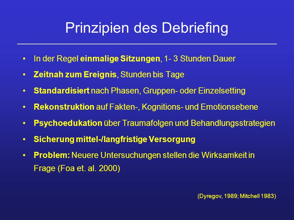 Prinzipien des Debriefing