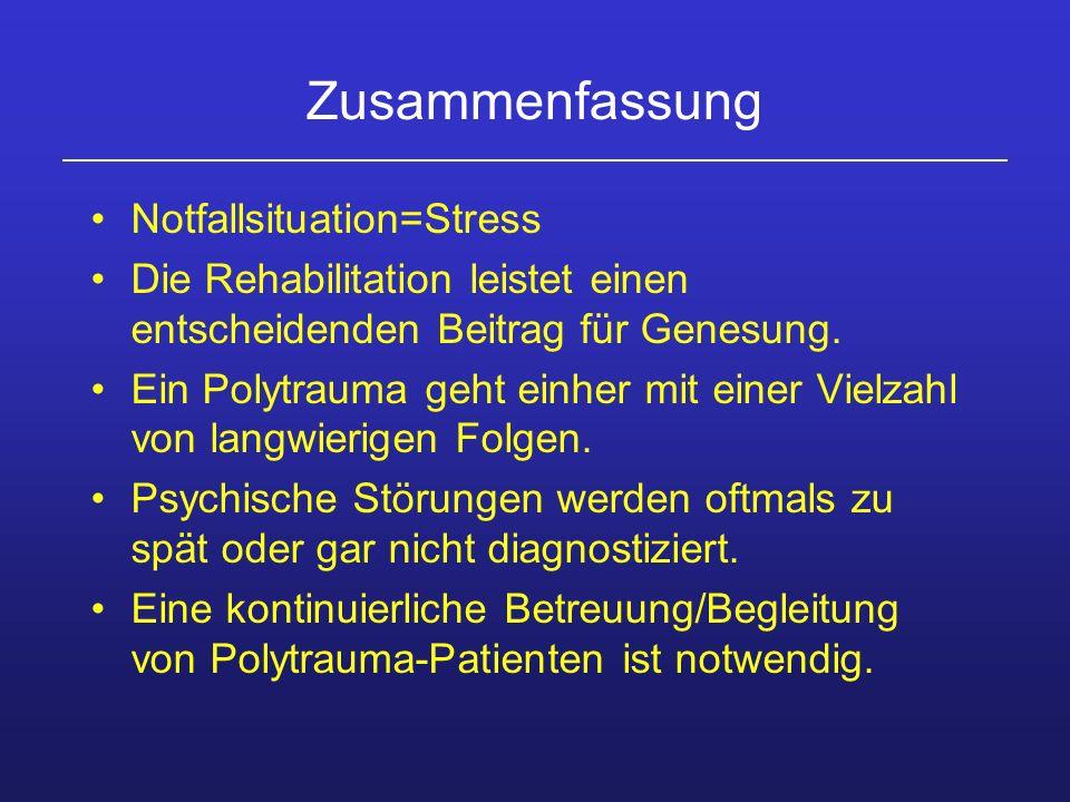 Zusammenfassung Notfallsituation=Stress