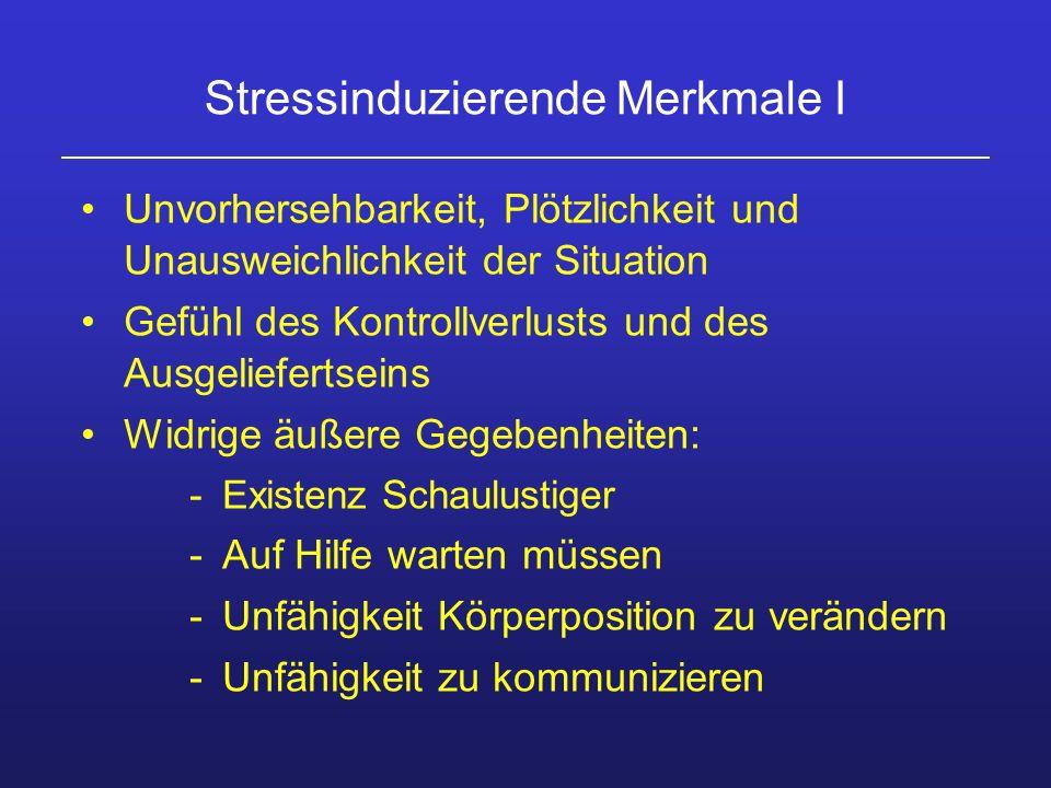 Stressinduzierende Merkmale I