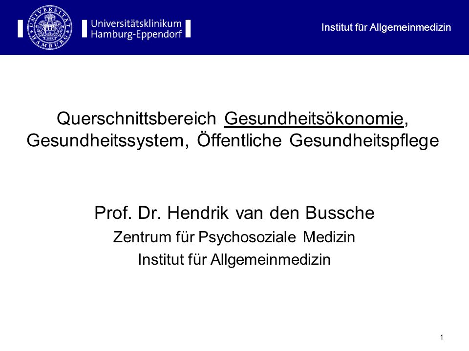 Prof. Dr. Hendrik van den Bussche