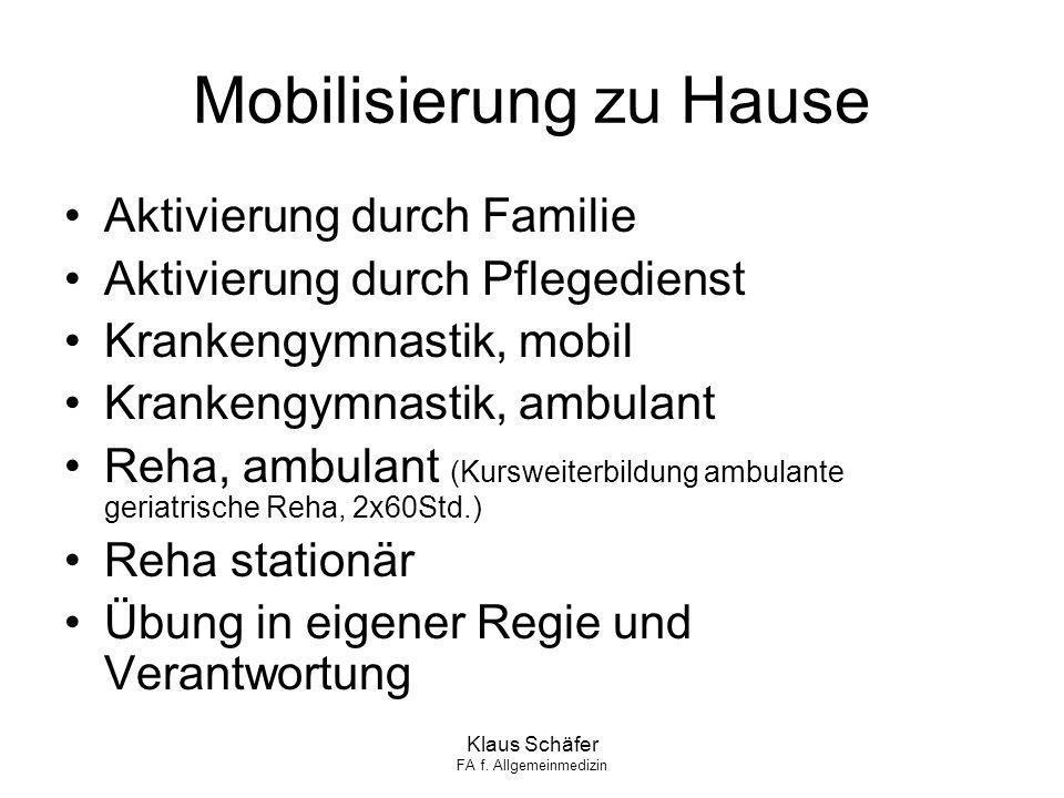 Mobilisierung zu Hause