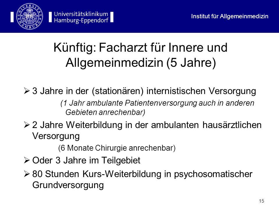 Künftig: Facharzt für Innere und Allgemeinmedizin (5 Jahre)