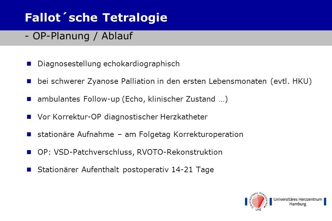 Fallot´sche Tetralogie - OP-Planung / Ablauf