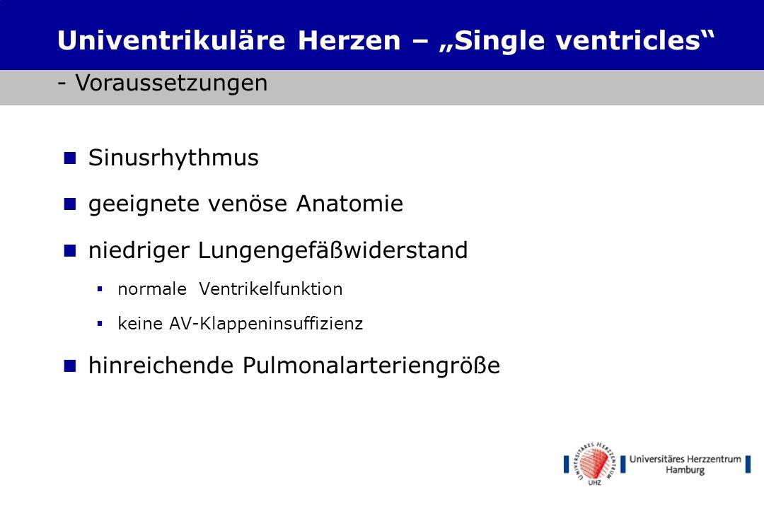 """Univentrikuläre Herzen – """"Single ventricles - Voraussetzungen"""