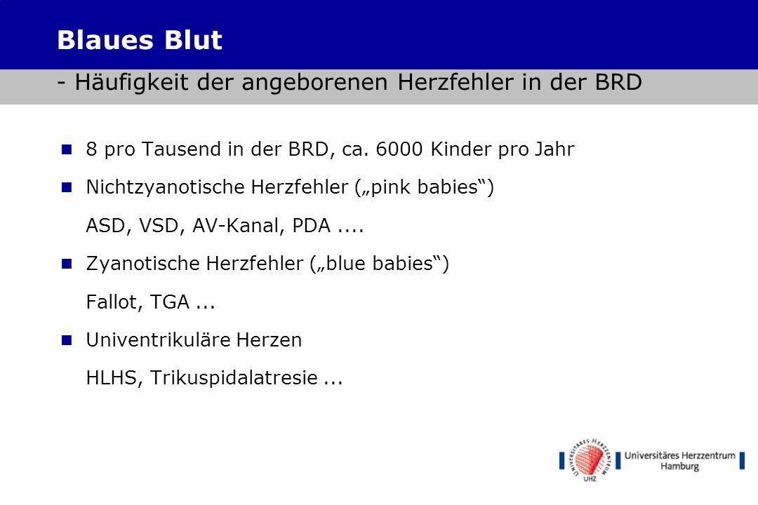 Blaues Blut - Häufigkeit der angeborenen Herzfehler in der BRD