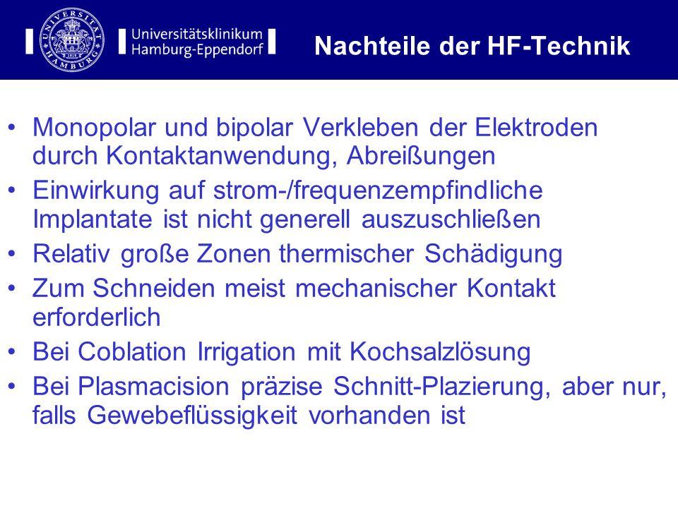 Nachteile der HF-Technik