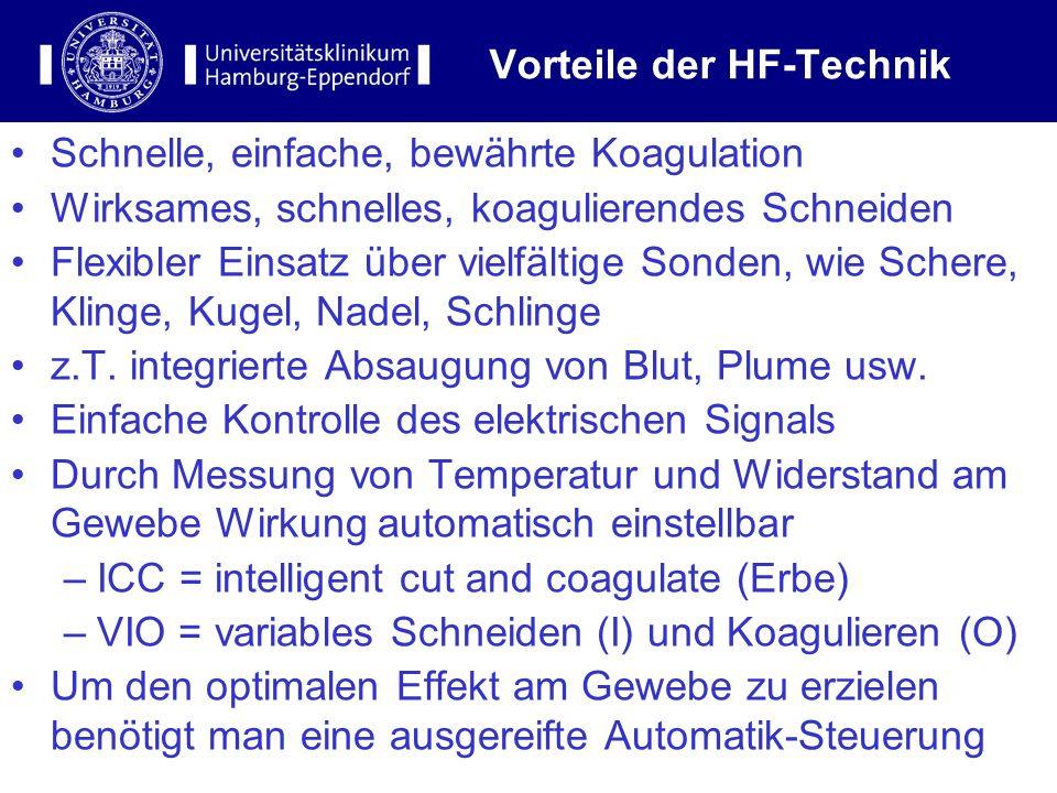 Vorteile der HF-Technik