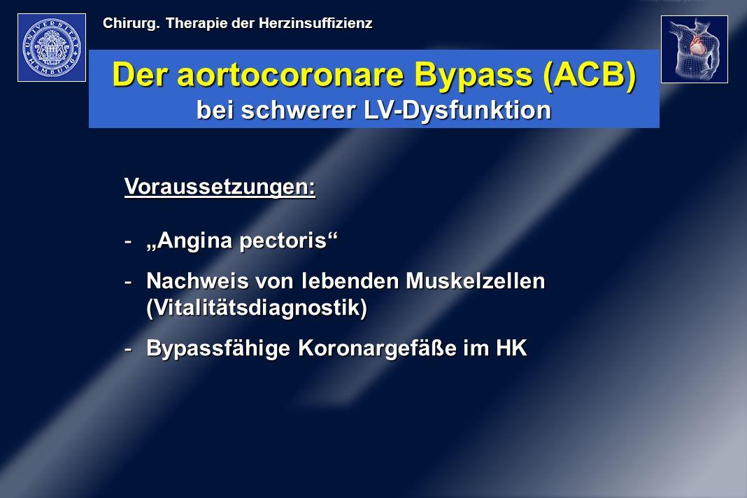 Der aortocoronare Bypass (ACB) bei schwerer LV-Dysfunktion