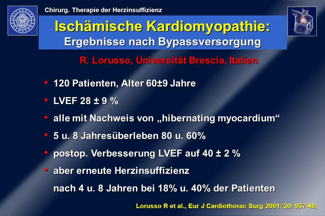 Ischämische Kardiomyopathie: Ergebnisse nach Bypassversorgung