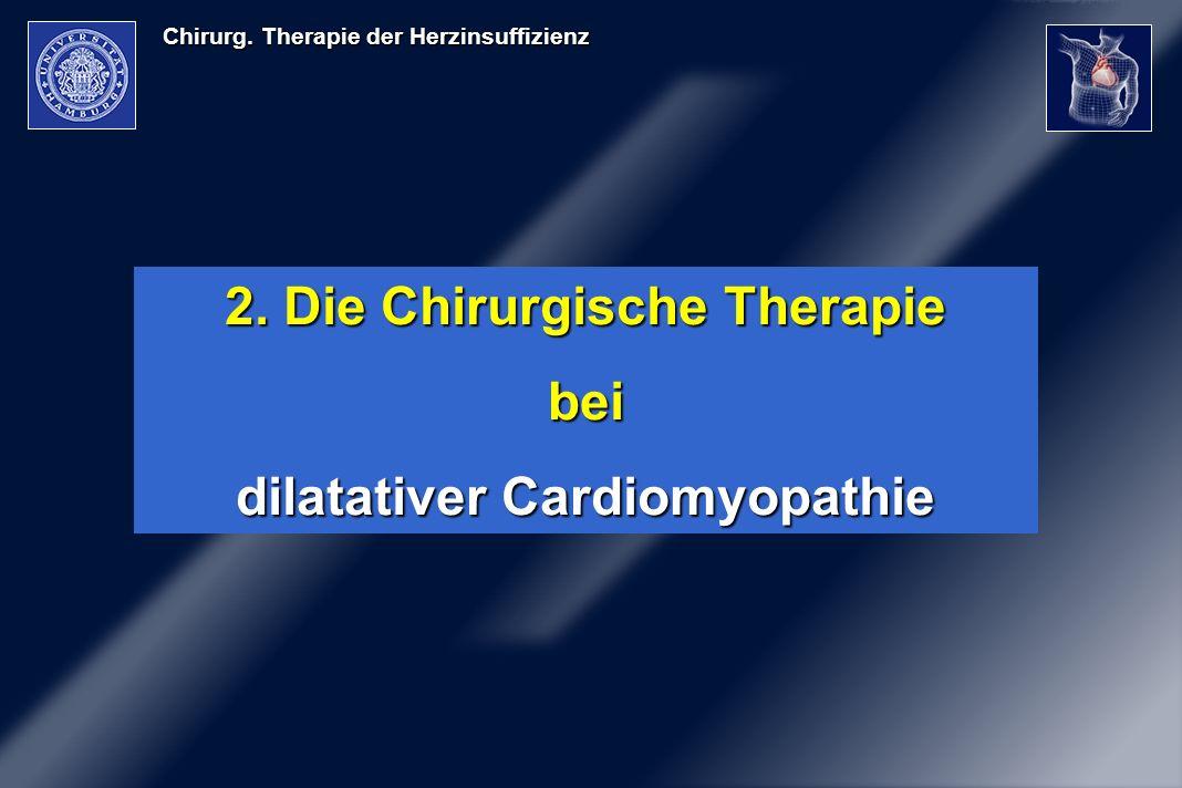 2. Die Chirurgische Therapie dilatativer Cardiomyopathie