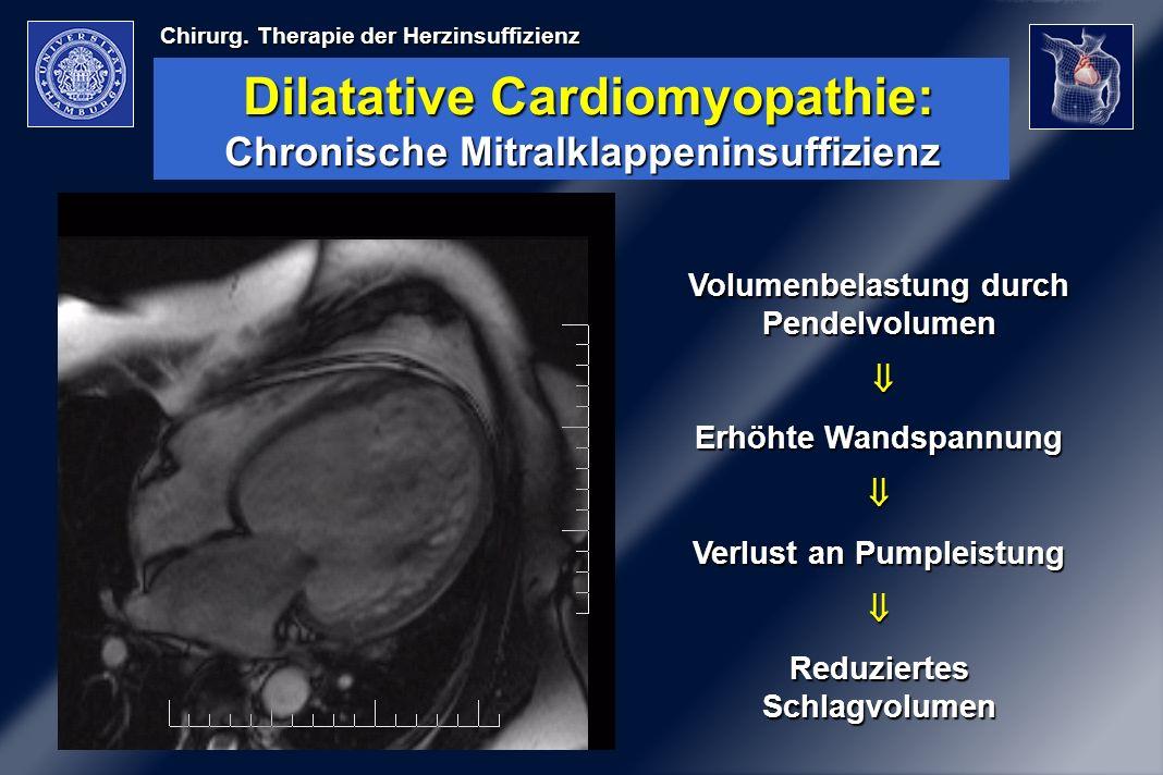 Dilatative Cardiomyopathie: Chronische Mitralklappeninsuffizienz