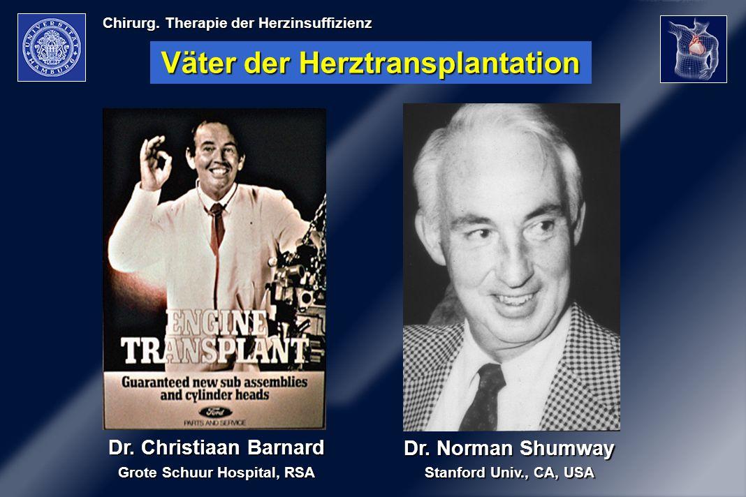 Väter der Herztransplantation Grote Schuur Hospital, RSA