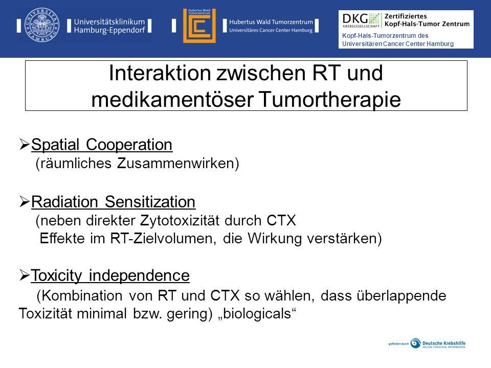 Interaktion zwischen RT und medikamentöser Tumortherapie