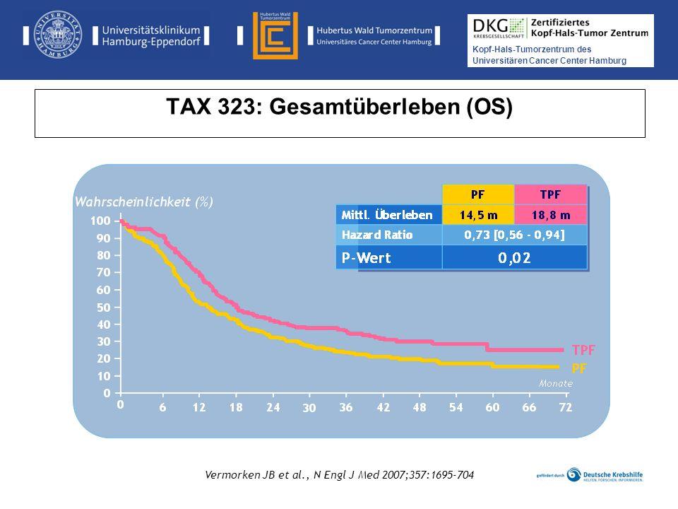 TAX 323: Gesamtüberleben (OS)