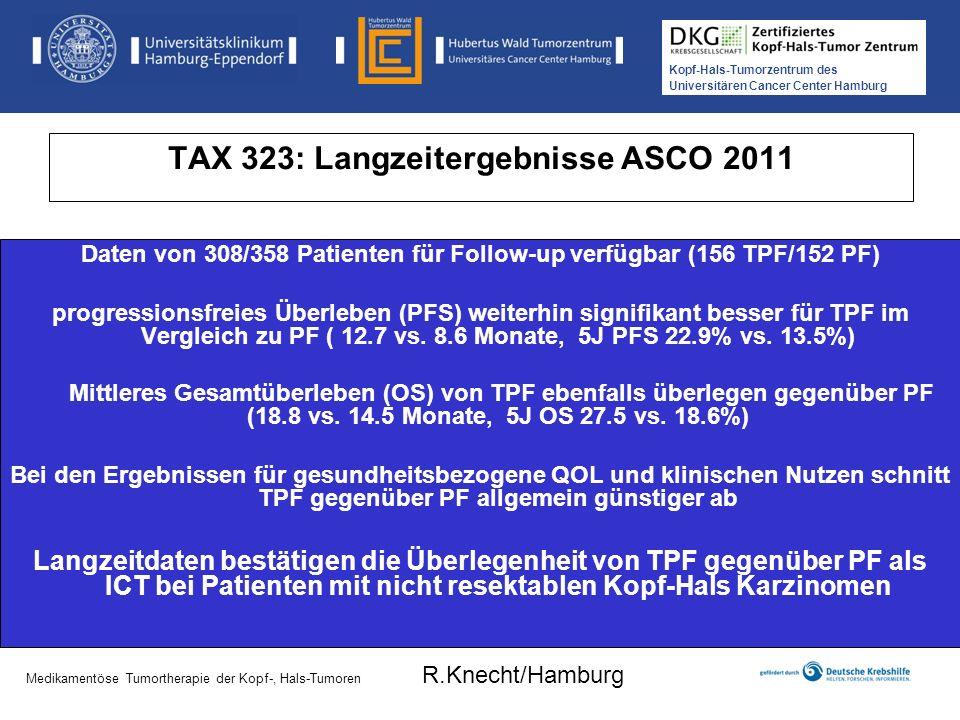 TAX 323: Langzeitergebnisse ASCO 2011