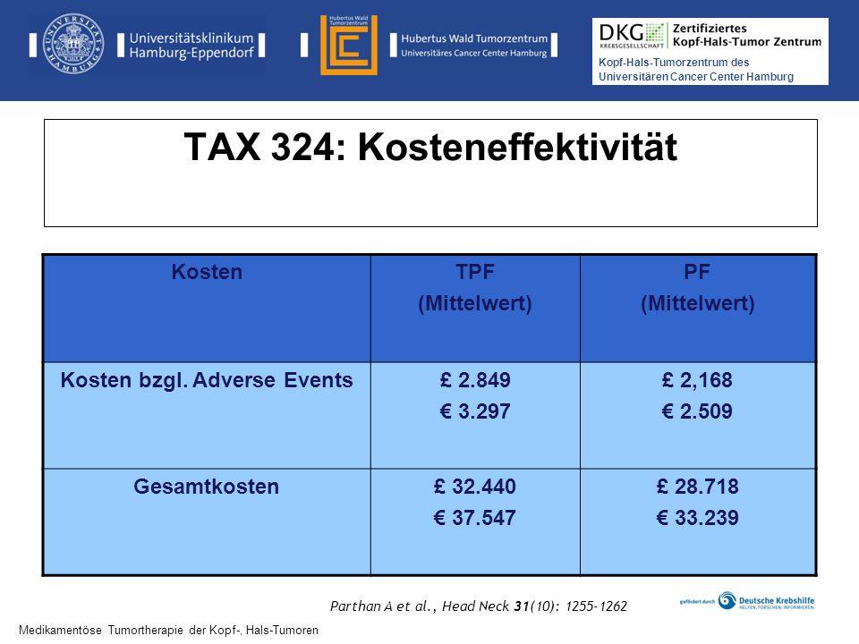 TAX 324: Kosteneffektivität
