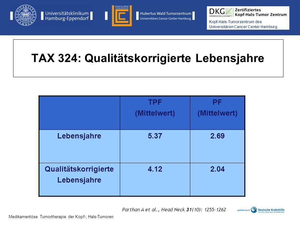 TAX 324: Qualitätskorrigierte Lebensjahre